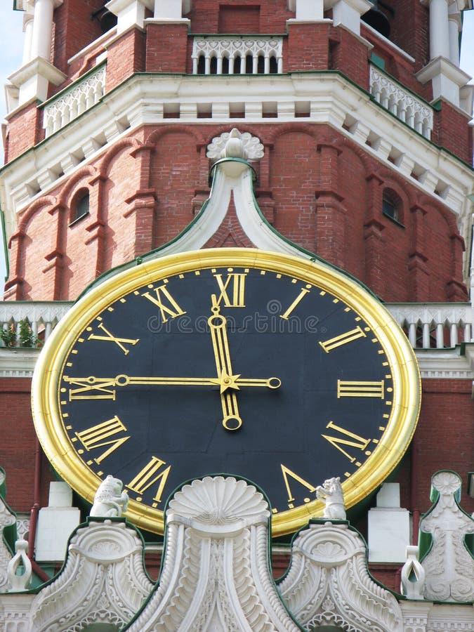 zegarowy sławny Kremlin obraz royalty free