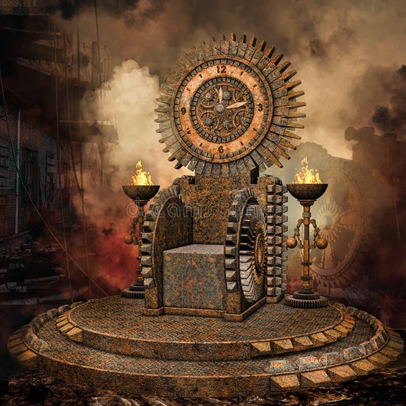Zegarowy tron royalty ilustracja