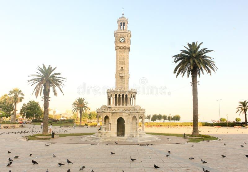 Zegarowy wierza jest symbolem Izmir zdjęcie royalty free