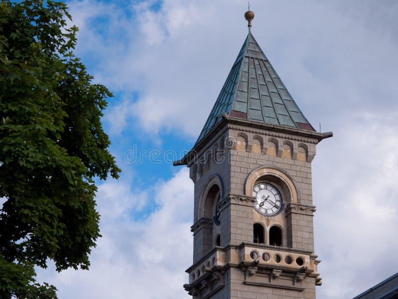 Zegarowy wierza Napastuję Laoghaire urząd miasta w Co dublin Ireland zdjęcie royalty free