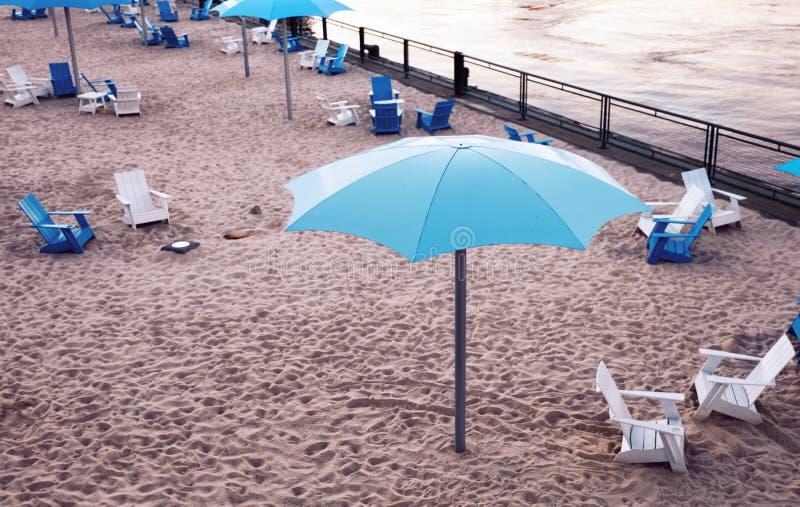 Zegarowy wierza plaża stary port Montreal, Quebec, Kanada obraz royalty free