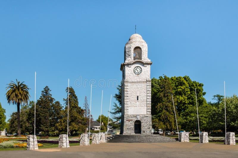 Zegarowy wierza przy Seymour kwadratem w Blenheim zdjęcie stock