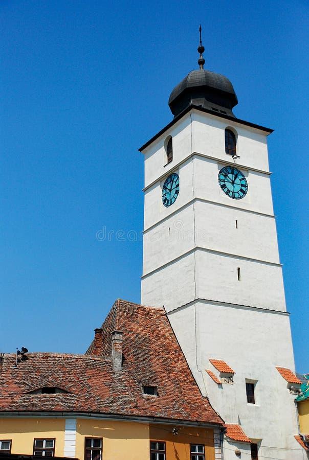 Zegarowy wierza Sibiu zdjęcia stock