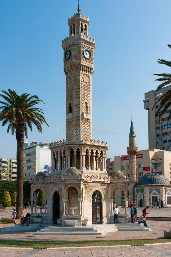 Zegarowy wierza, symbol Izmir obraz royalty free