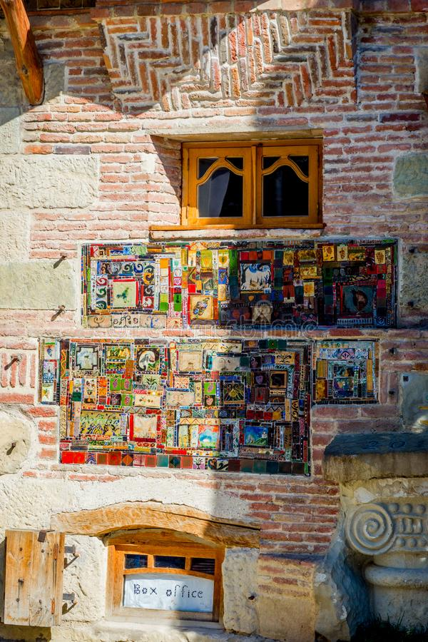 Zegarowy wierza szczegół, Tbilisi zdjęcia royalty free
