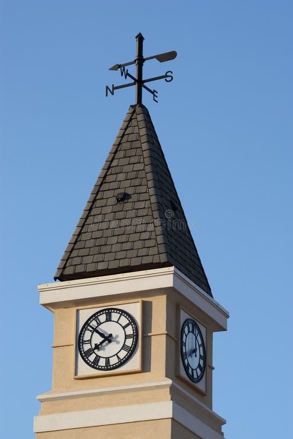 zegarowy wierza vane pogoda zdjęcie stock