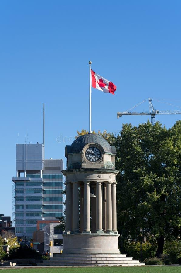 Zegarowy wierza w Kitchener, Kanada obraz royalty free