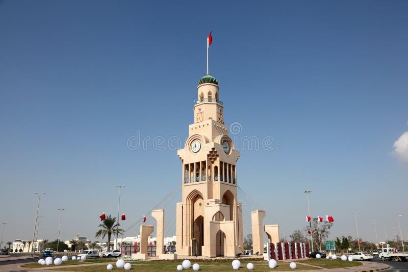 Zegarowy wierza w Riffa, Bahrajn obraz stock