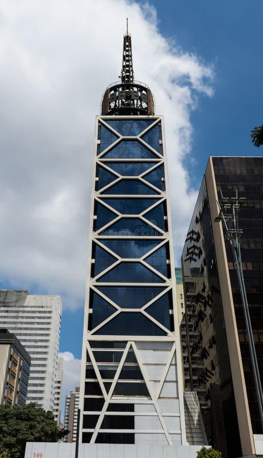 Zegarowy wierza w Sao Paulo, Brazylia fotografia royalty free