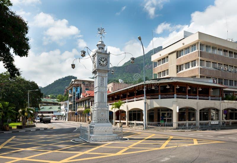 Zegarowy wierza Wiktoria, Seychelles fotografia royalty free