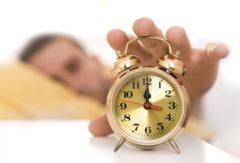 Zegarowy zakończenie, dla zegaru osoby dojechanie zdjęcia royalty free