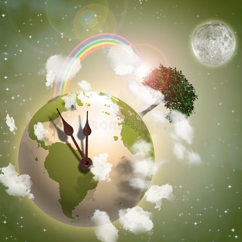 zegarowy ziemski cykot ilustracja wektor