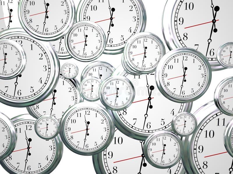 Zegaru czasu Przelotny wmarsz Na Przyszłościowym postępie Poruszającym Naprzód royalty ilustracja