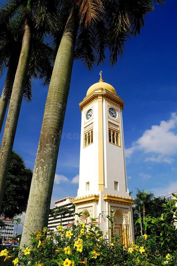 Zegaru Duży Wierza (Menara Dżem Besar) obraz stock