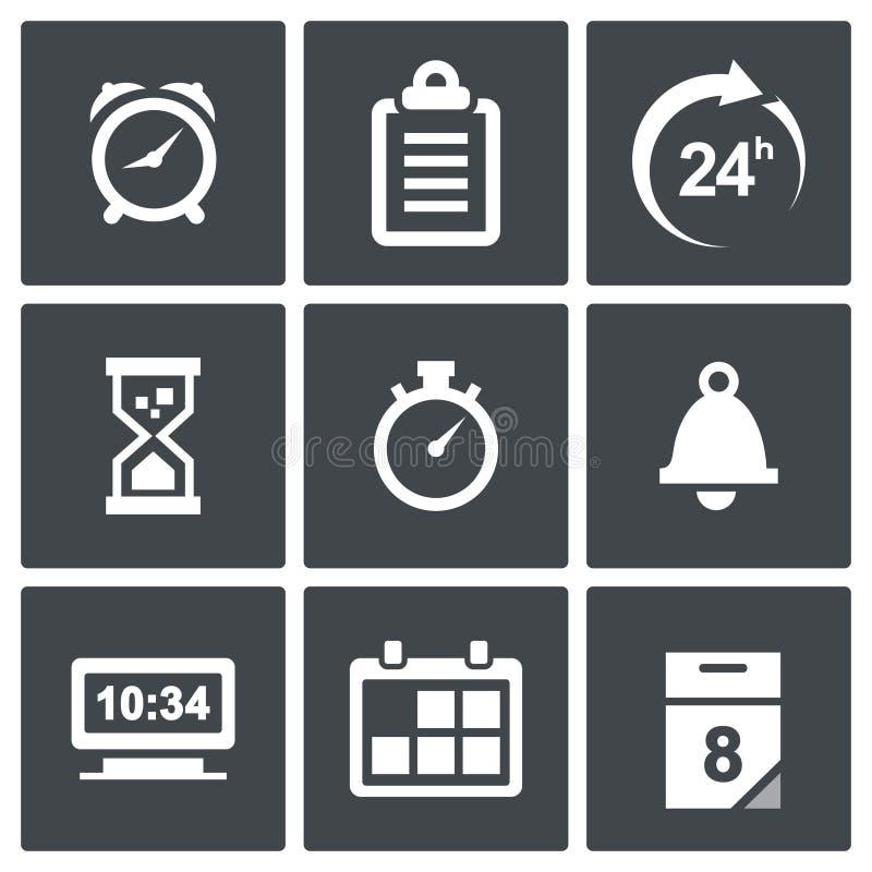 Zegaru i czasu ikony