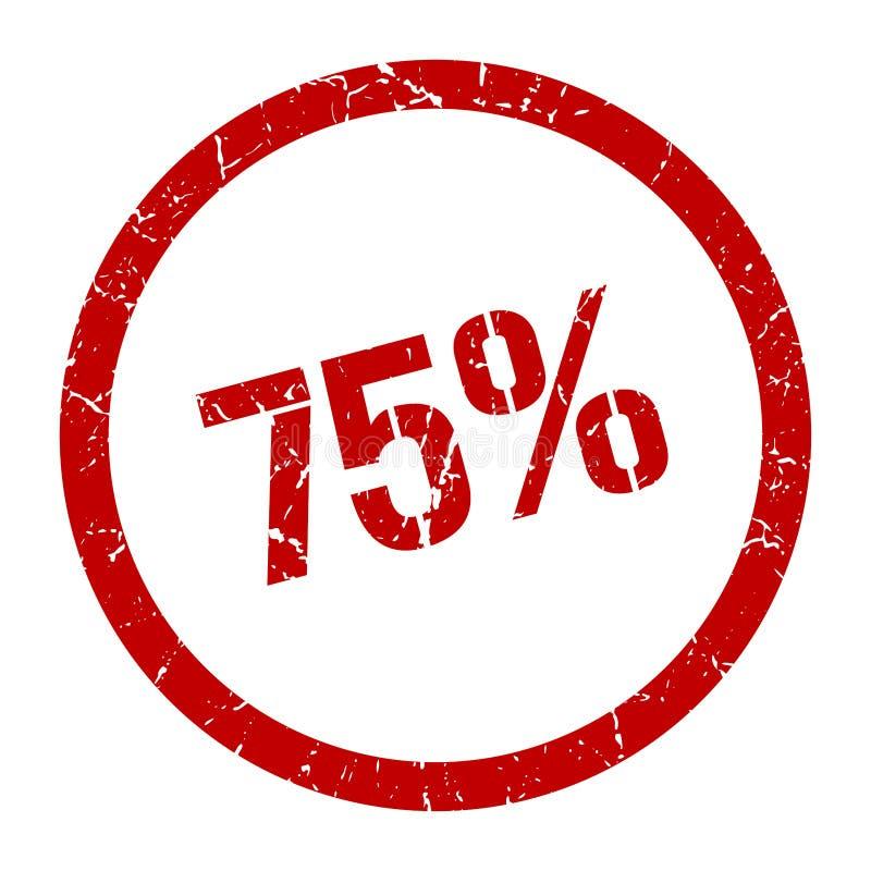 75% zegel vector illustratie