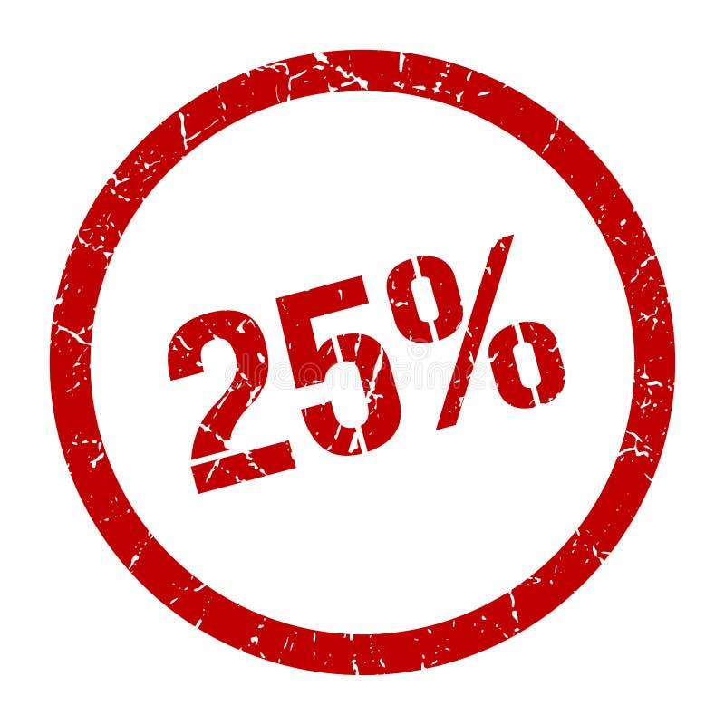 25% zegel stock illustratie