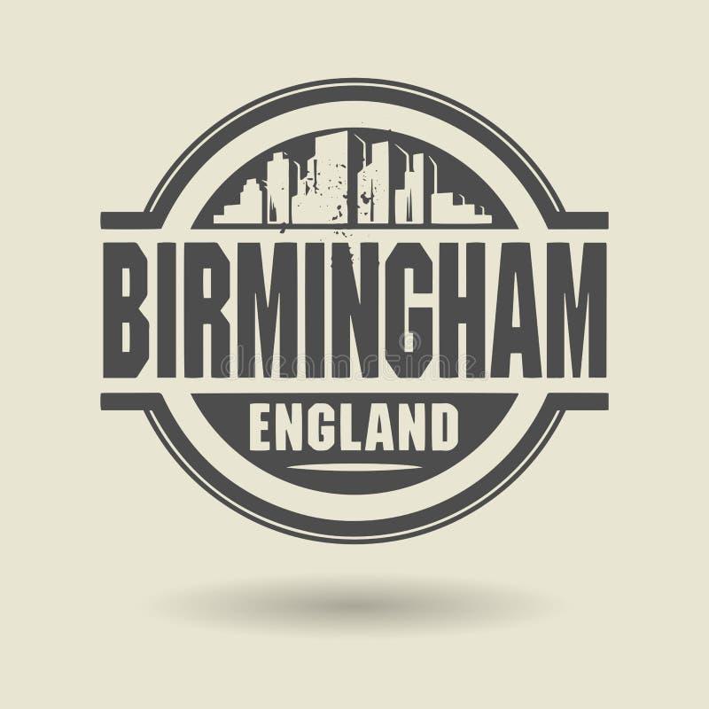 Zegel of etiket met binnen tekst Birmingham, Engeland vector illustratie