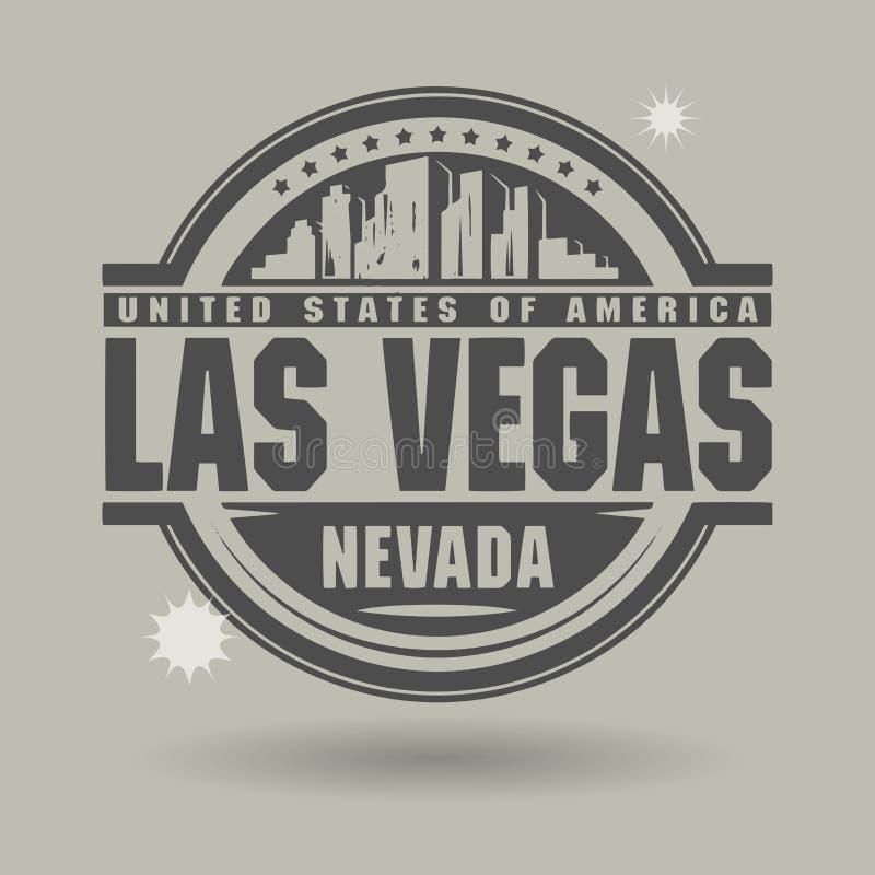 Zegel of etiket met binnen tekst Las Vegas, Nevada royalty-vrije illustratie