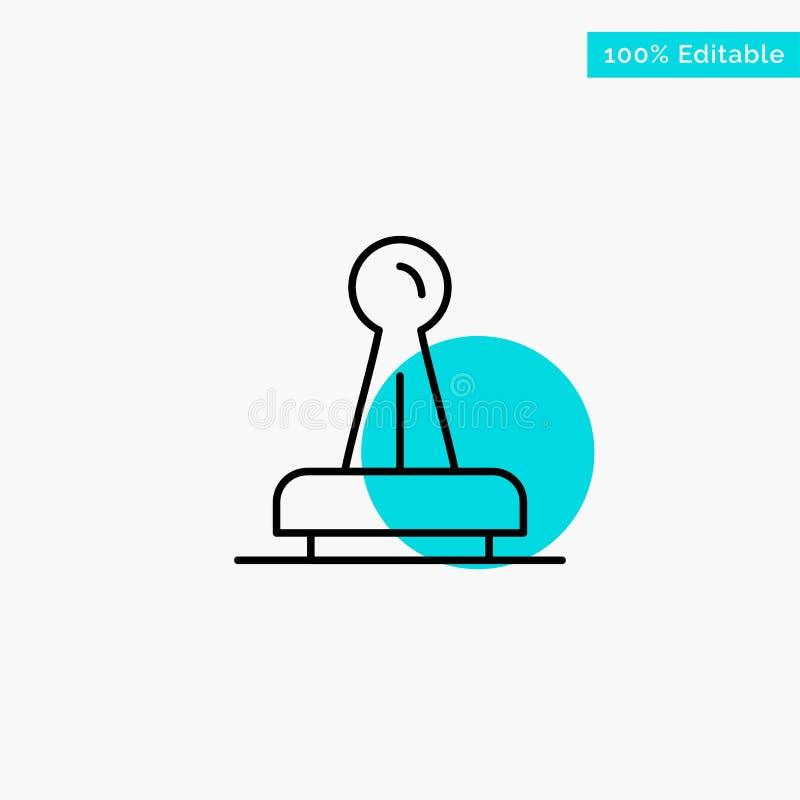 Zegel, Goedkeuring, Wettelijke Instantie, Teken, Rubber, van het de cirkelpunt van het Verbindings het turkooise hoogtepunt Vecto stock illustratie