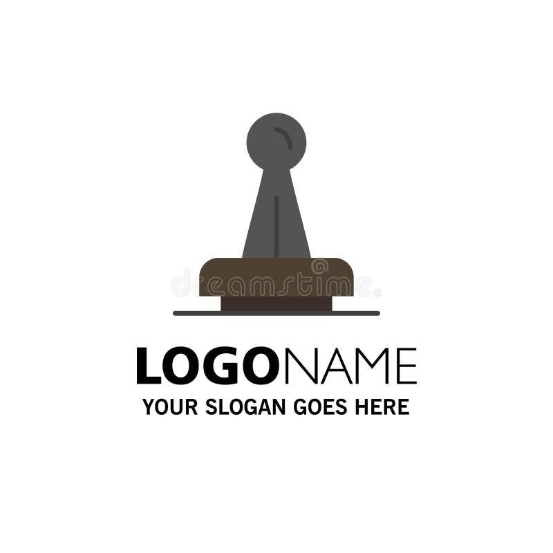 Zegel, Goedkeuring, Wettelijke Instantie, Teken, Rubber, Verbindingszaken Logo Template vlakke kleur vector illustratie