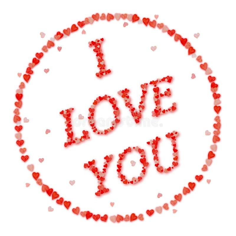 Zegel I van de liefde LIEFDE U royalty-vrije stock afbeelding