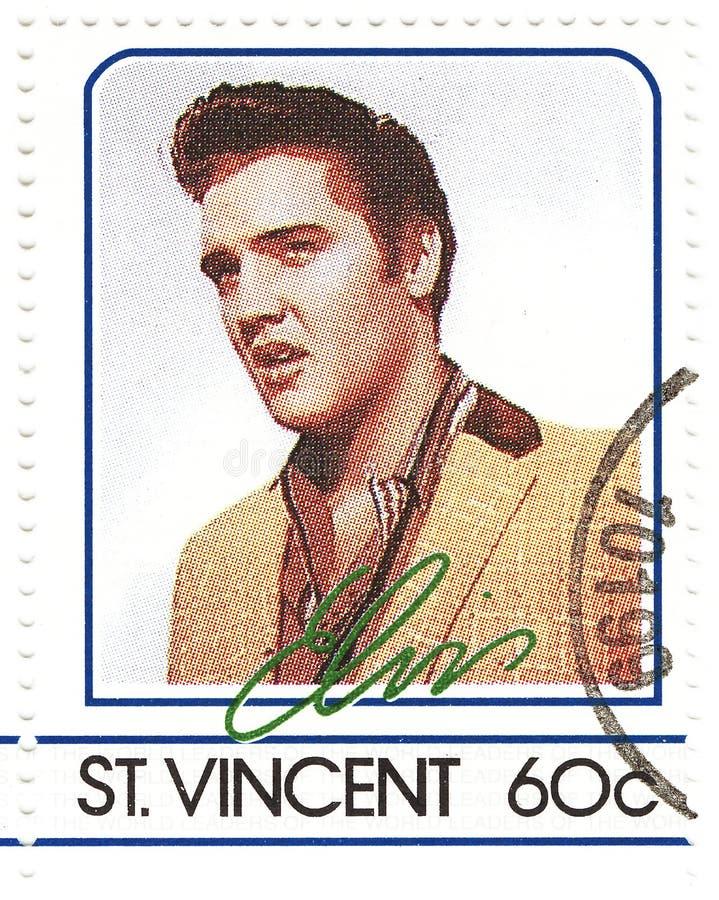 Zegel met Elvis Presley stock afbeeldingen