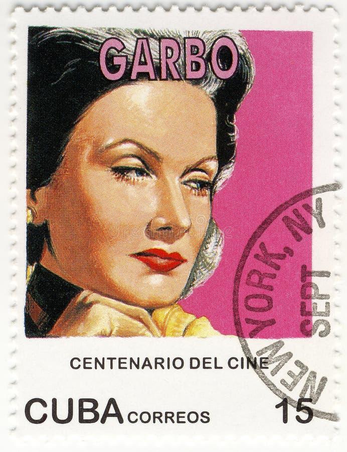 Zegel met Greta Garbo royalty-vrije stock fotografie