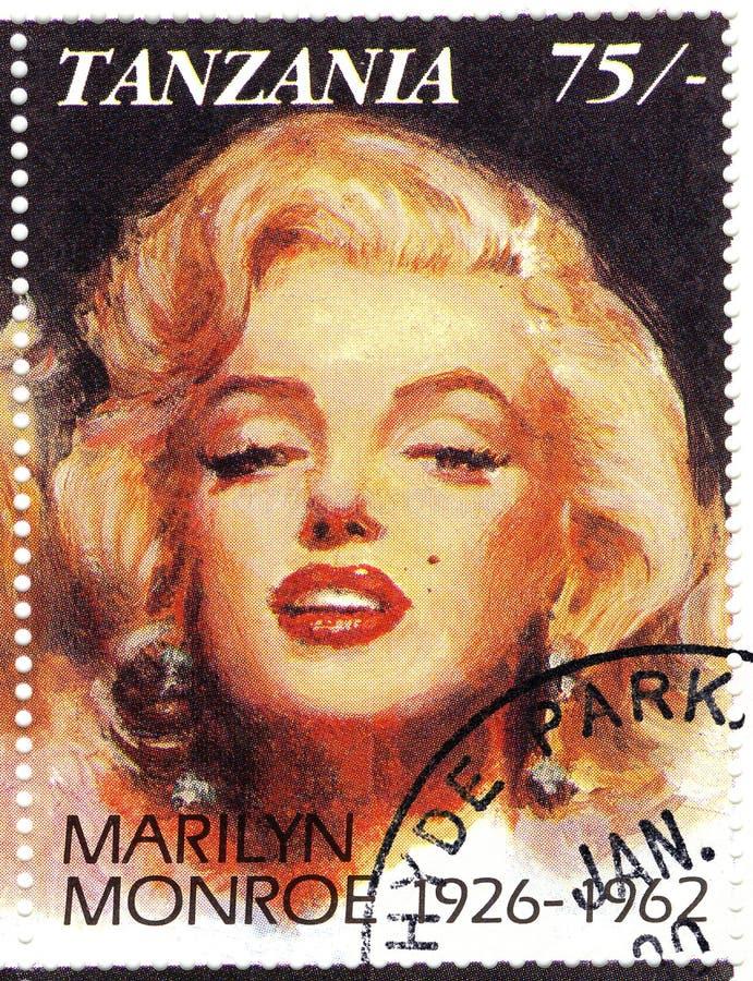 Zegel met Marilyn Monroe royalty-vrije stock fotografie