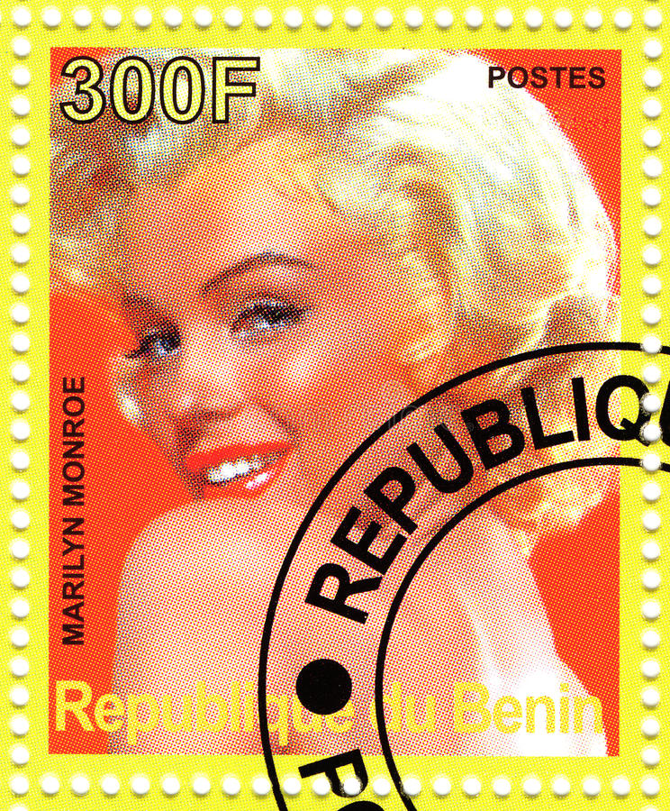Zegel met Marilyn Monroe stock foto