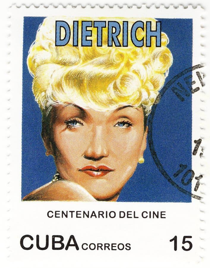 Zegel met Marlene Dietrich royalty-vrije stock foto's