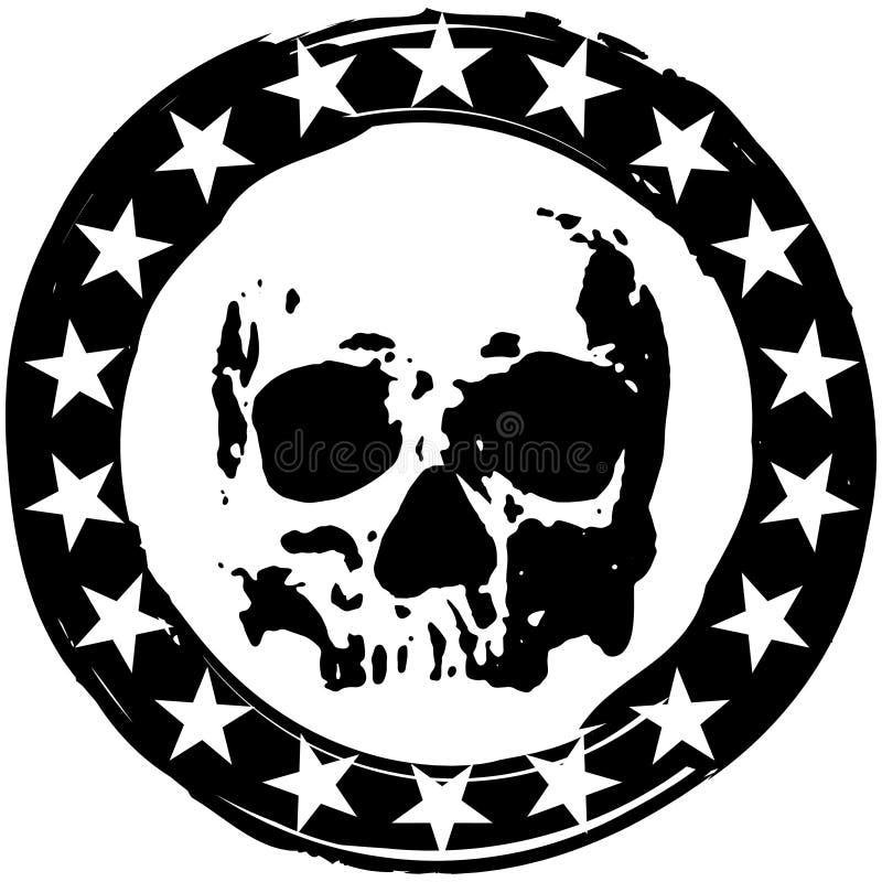 Zegel met schedel stock illustratie