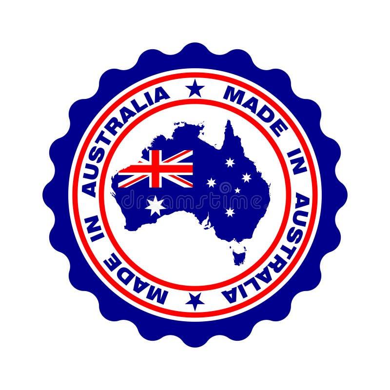 Zegel met tekst 'in Australië dat 'wordt gemaakt royalty-vrije illustratie