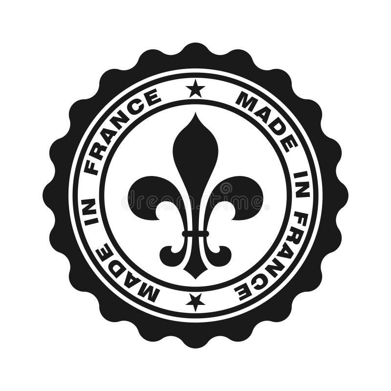 Zegel met tekst in Frankrijk wordt gemaakt dat stock illustratie