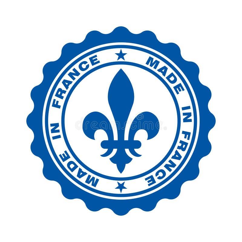 Zegel met tekst in Frankrijk wordt gemaakt dat royalty-vrije illustratie