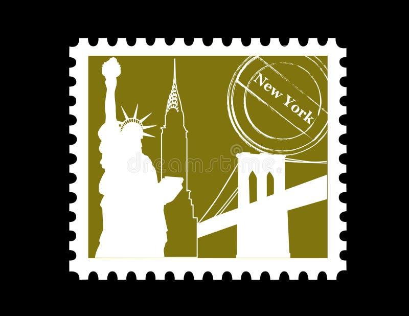 Zegel, New York vector illustratie