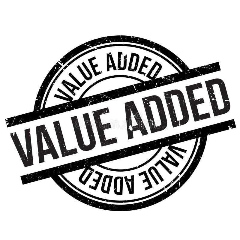 Zegel op de toegevoegde waarde stock illustratie