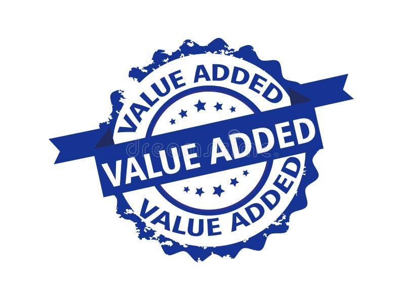 Zegel op de toegevoegde waarde teken Vector royalty-vrije illustratie