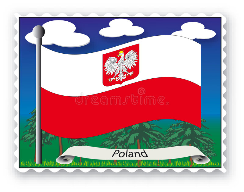 Zegel Polen royalty-vrije illustratie
