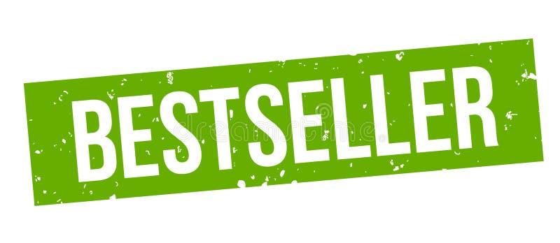 Zegel van best-seller de vierkante groene grunge royalty-vrije illustratie
