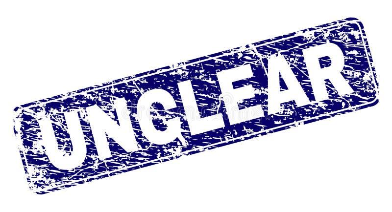 Zegel van de Grunge de ONDUIDELIJKE Ontworpen Rond gemaakte Rechthoek royalty-vrije illustratie