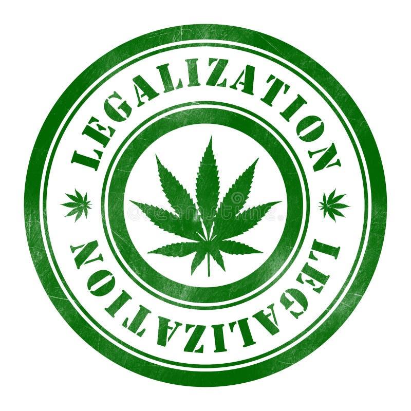 Zegel van Legalisatie vector illustratie