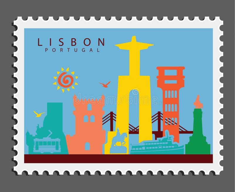 Zegel van Lissabon Portugal royalty-vrije stock foto's
