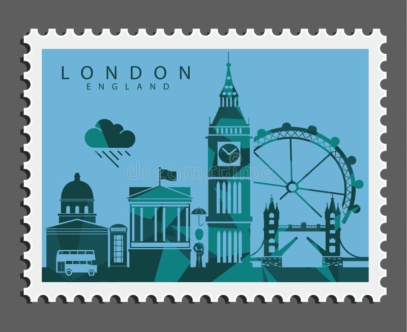 Zegel van Londen Engeland royalty-vrije stock afbeelding