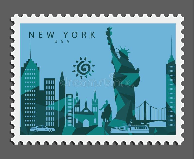 Zegel van New York de V.S. stock afbeeldingen