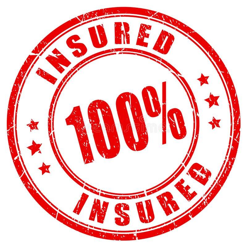 zegel van 100 percenten volledig verzekerde stock illustratie