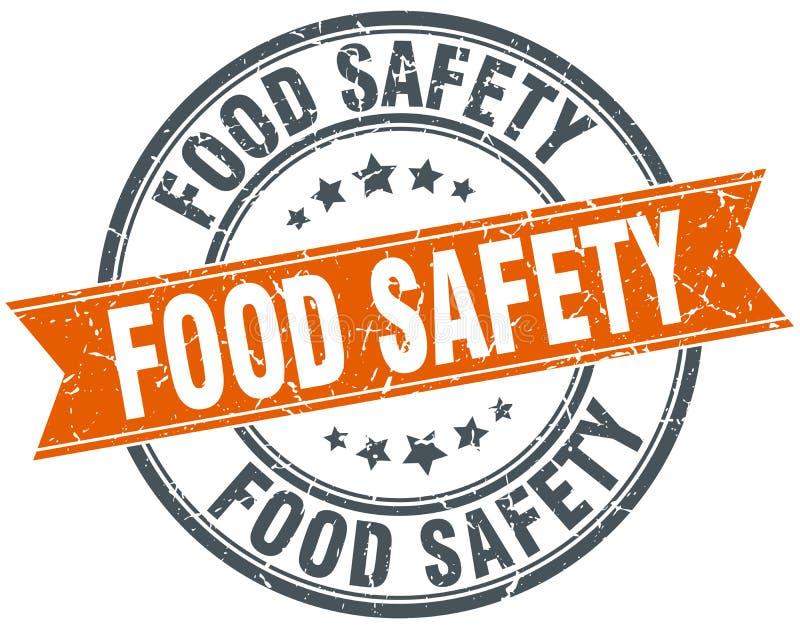 Zegel van voedselveiligheid de ronde grunge vector illustratie