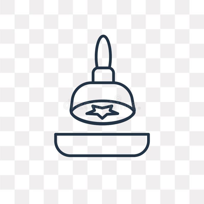 Zegel voor Paspoorten vectordiepictogram op transparante backgrou wordt geïsoleerd vector illustratie