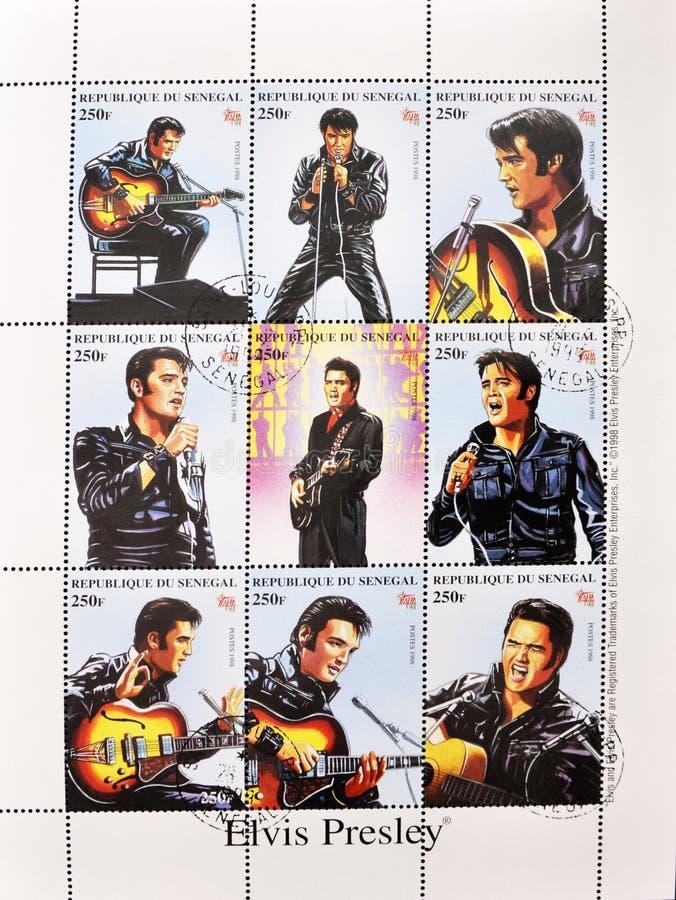 Zegel whith Elvis Presley stock fotografie