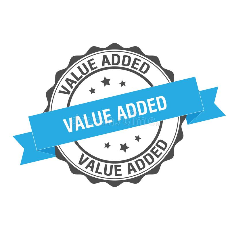 Zegelillustratie op de toegevoegde waarde royalty-vrije illustratie